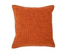 Kussen (Gevuld) Chenille - 42X42 Cm - Orange