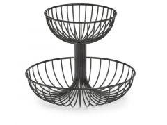 Fruit Basket 2 Layer Metal/Black