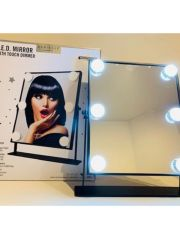 Hollywood Spiegel Extra Large Met 6 Led Lights Zwart
