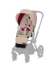 Cybex Platinum Priam Zit Pack Ferrari/Silver Grey-Light Grey Pu1