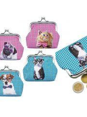 Portomonee Pvc Dog & Cat 9X8Cm Assortiment Prijs Per Motief