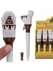Pen Poo In Toilet 18.5Cm Plastic