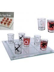 Tic Tac Toe Drankspel Met 9 Glazen