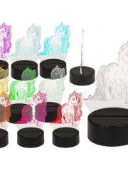 3D Night Light Unicorn 17Cm Plastic