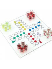 Ludo Drinking Game Met 16 Glazen En 2 Dices 31X31Cm