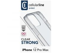 Cellularline Iphone 12 Pro Max Clear Case Duo Transparant