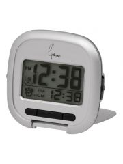 Digital Alarm Travel Clock W/ Light And Snooze Silver