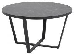 Amble Coffee Table D77Xh44Cm Marble Print-Black