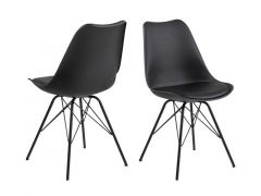 Eris Dining Chair Plastic Black 48.5X54Xh85.5Cm