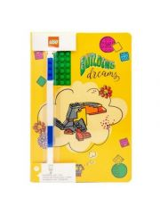 Lego  Notebook Building Dreams Met Blauwe Gel Pen