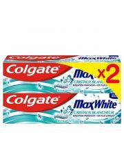 Colgate Max White White Crystals 2X75Ml