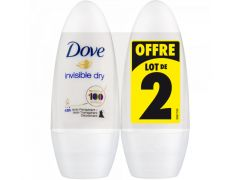 Dove Deo Roller Invisible Dry 2X50Ml