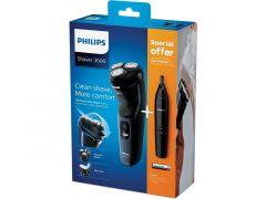 Philips S3134/57 Scheerapparaat Wet 'N Dry + Neustrimmer