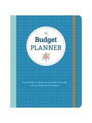 Budgetplanner Blauw