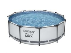 Bestway 56418 Zwembad Rond Frame Pool Steel Pro D3.66Mx1M + Filter