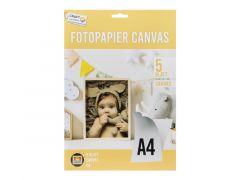 Photopaper Canvas A4 5 Bladen