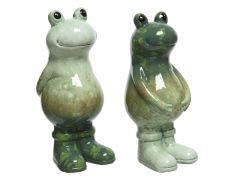 Kikker Terracotta 6.5X8Xh15.5Cm Groen/Kleur 2 Assortimenten Prijs Per Kleur
