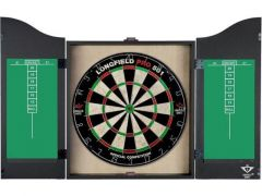 Wooden Black Cabinet With Sisal Dartboard 65004C