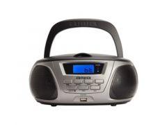 Aiwa Bbtu 300 Bk Bluetooth Boombox With Usb Silver Black