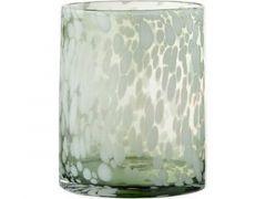 Windlicht  Deco Glas Groen/W S (17X17X23Cm)