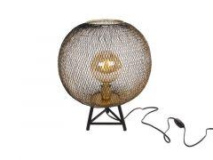 "Tafellamp Rond ""Draad"" L Goud/Zwart Metaal 30X30X43Cm"