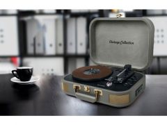 Muse Mt 201 Vintage Portable Turntable Grijs