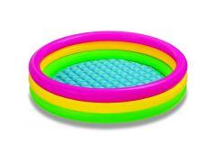 Intex 57422Np Sunset Glow Zwembad 3-Ring Met Opblaasbare Vloer 1.47Mx33Cm