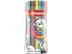 Stabilo Pen 68 Mega Box 30-Delig Met 6 Neon Kleuren