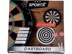 Sportx Dartbord Flocked Met 6 Darts