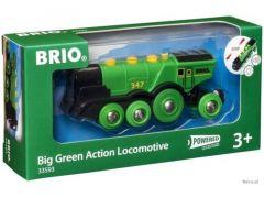Brio Big Green Action Locomotief Op Batterijen