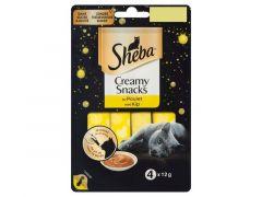 Sheba Creamy Snack 4X12G Kip