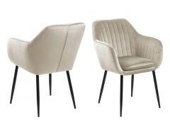 Emilia Dining Chair With Armrest Sand 57X61X83Cm