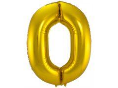 Folie Ballon Cijfer 0 Goud 86Cm