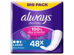 Always Liners Extra Protect Large
