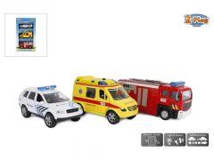 Belgische Hulpdiensten Diecast Lich En Geluid 3St
