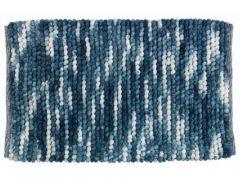 Wenko Badmat Urdu 60X90Cm - 80% Polyester 20% Katoen Blauw