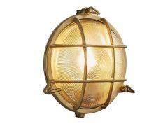 Polperro  Ip64 Wandverlichting Brass E27