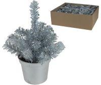 K Kerstboom 15Cm In Pot Zilver