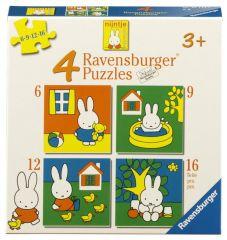4 Puzzels Nijntje 12-16-20-24 stuks