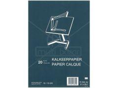 Kalkpapier Bundel 20Bl A4 75-75Gr