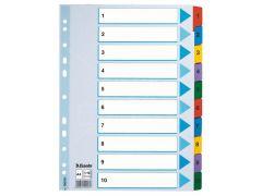 Index Luxe Mylar A4 1-10 Gekl.