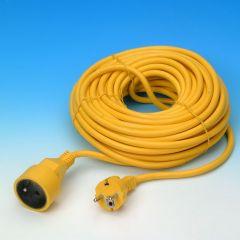 Verlengsnoer 20m geel 3G1.5mm²
