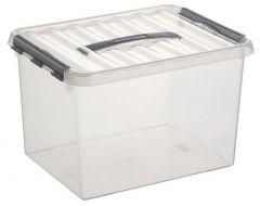 Q-Line Opbergbox Large 22Lit Transparant 40X30X26Cm