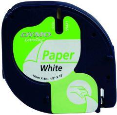 Dymo Letratag Tape 12Mm Papier Wit
