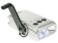 Dynamo ledzaklamp/lader voor gsm/alarm/geldtester - 5 leds