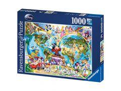 P 1000 St Disneys Wereldkaart