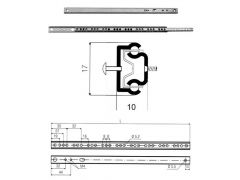 Ladegeleiderset Kogelgeleiding 400X27