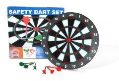 Veiligheidsdartbord 45 cm inclusief 6 darts