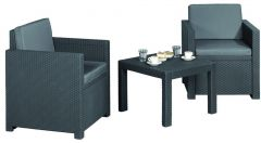 Allibert Wicker Victoria Balcony Set Antra