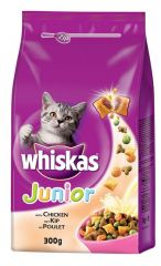 Whiskas dry junior kip & melk 300gr